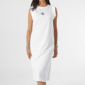 Calvin Klein - Robe Débardeur Femme Knotted 6271 Blanc