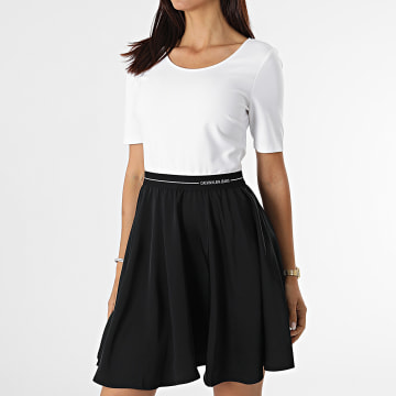 Calvin Klein - Robe Femme Elastic 6275 Noir Blanc