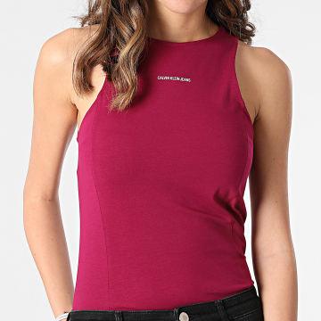 Calvin Klein - Débardeur Femme Micro Branding 6276 Bordeaux