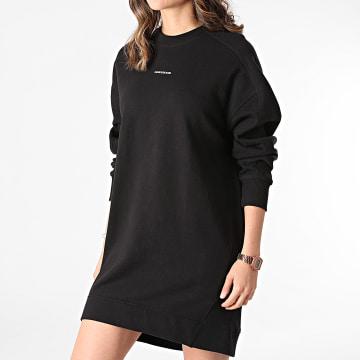 Calvin Klein - Sweat Robe Crewneck Femme Micro Branding 6514 Noir