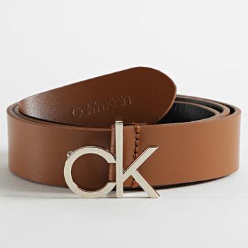 Calvin Klein - Ceinture Femme CK Logo 6716 Marron