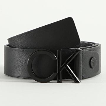 Calvin Klein - Ceinture Cuir Adjustable Outline Matt 7075 Noir