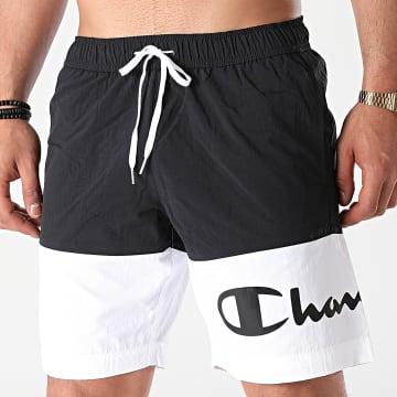 Champion - Short De Bain 216070 Noir Blanc