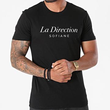Fianso - Tee Shirt La Direction Noir Blanc