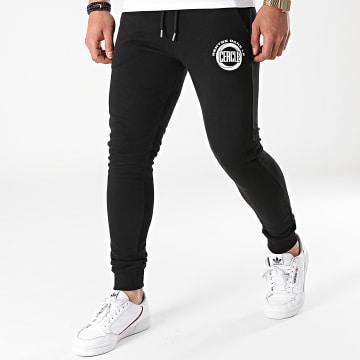 Fianso - Pantalon Jogging Rentre Dans Le Cercle Noir Blanc