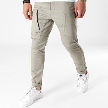 G-Star - Pantalon Cargo Skinny Zip Pocket 3D D18928-C105 Vert Kaki Clair