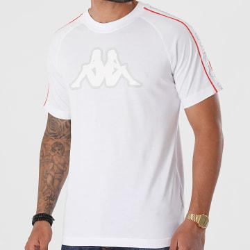 Kappa - Tee Shirt A Bandes Avirec 304M510 Blanc