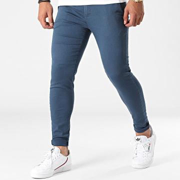 LBO - Pantalon Chino Skinny 1745 Bleu