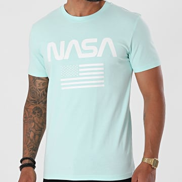 NASA - Tee Shirt Flag Mint Blanc