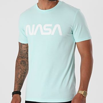 NASA - Tee Shirt Worm Mint Blanc
