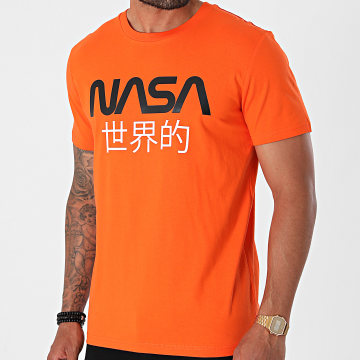 NASA - Tee Shirt Japan Orange Noir