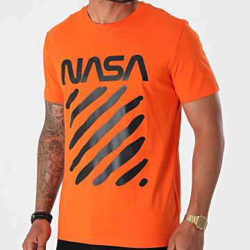NASA - Tee Shirt Skid Orange Noir