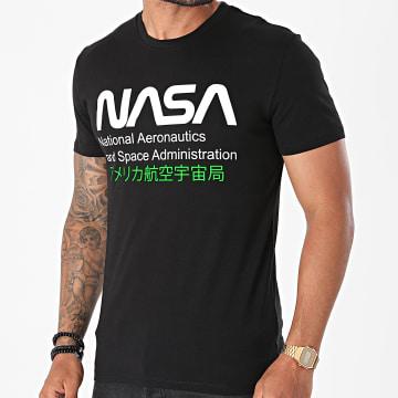 NASA - Tee Shirt Admin 2 Noir Vert Fluo