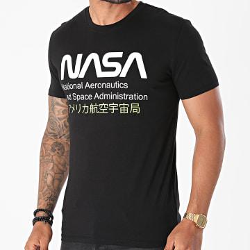 NASA - Tee Shirt Admin 2 Noir Jaune Fluo