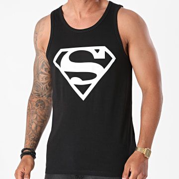 Superman - Débardeur Logo Noir Blanc