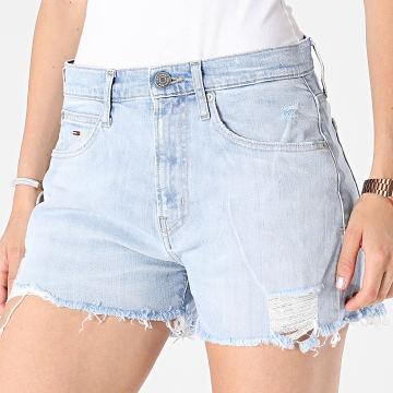 Tommy Jeans - Short Jean Slim Femme Hotpant 0459 Bleu Denim