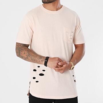 Urban Classics - Tee Shirt Poche Oversize Ripped Pocket TB1570 Rose