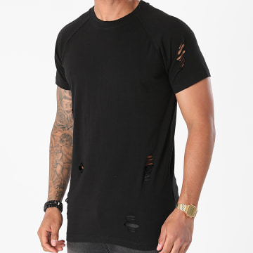 Urban Classics - Tee Shirt Ripped Raglan TB1588 Noir
