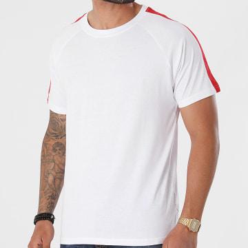 Urban Classics - Tee Shirt A Bandes Stripe Shoulder Raglan TB2059 Blanc