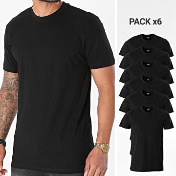 Urban Classics - Lot De 6 Tee Shirts Basic TB2684C Noir