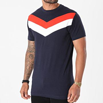 Urban Classics - Tee Shirt Arrow Panel TB2687 Bleu Marine