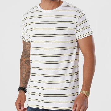 Urban Classics - Tee Shirt A Rayures Multicolore Stripe TB2695 Blanc