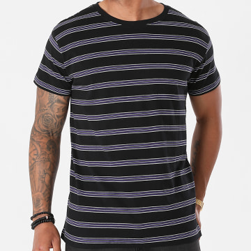Urban Classics - Tee Shirt A Rayures Multicolore Stripe TB2695 Noir