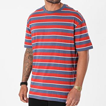 Urban Classics - Tee Shirt A Rayures Yarn Dyed Oversized Board Stripe TB3691 Rouge Bleu