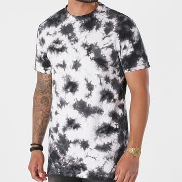 Urban Classics - Tee Shirt Black Tie Dye TB4157 Blanc Noir