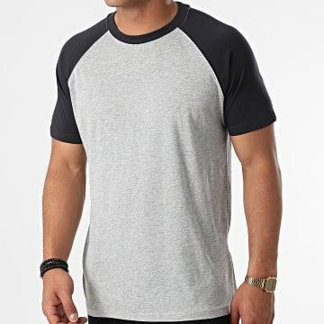 Urban Classics - Tee Shirt TB639 Gris Chiné Bleu Marine