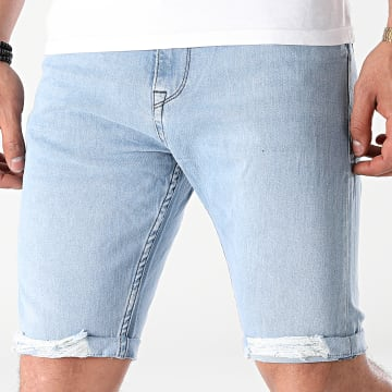 2Y Premium - Short Jean B4400 Bleu Denim