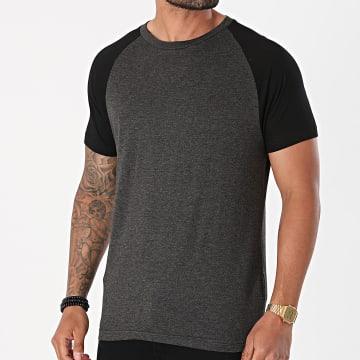 Brave Soul - Tee Shirt Baptiste Gris Anthracite Chiné