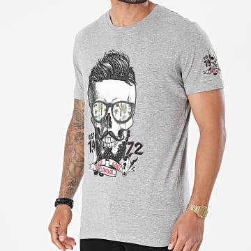 Brave Soul - Tee Shirt Vertex B Gris Chiné