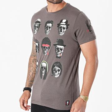 Brave Soul - Tee Shirt Famous Gris Anthracite