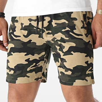 Brave Soul - Short Jogging Crews Beige Vert Kaki Camouflage