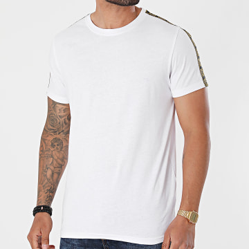 Brave Soul - Tee Shirt A Bandes Harland Blanc Renaissance