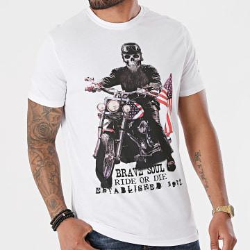 Brave Soul - Tee Shirt Brando Blanc