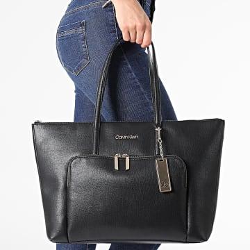 Calvin Klein - Sac A Main Femme Shopper Saffiano 8554 Noir