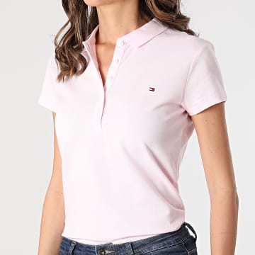 Tommy Hilfiger - Polo Manches Courtes Femme Heritage 6661 Rose
