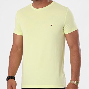 Tommy Hilfiger - Tee Shirt Stretch Slim Fit 0800 Vert Anis