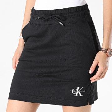 Calvin Klein - Jupe Femme Monogram Heavyweight Knit 7173 Noir