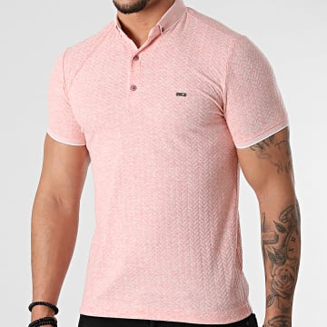 Classic Series - Polo Manches Courtes 21Y-1079 Rose Chiné