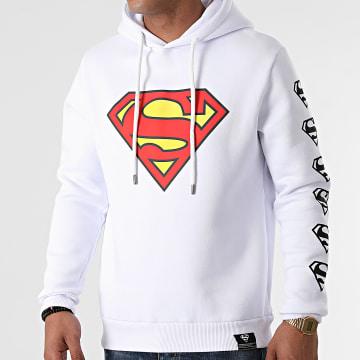 DC Comics - Sweat Capuche Front And Sleeve Blanc