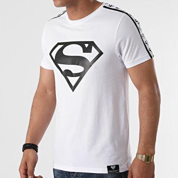 DC Comics - Tee Shirt BW Stripe Big Logo Blanc
