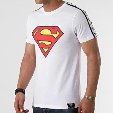 DC Comics - Tee Shirt Stripe Big Logo Blanc