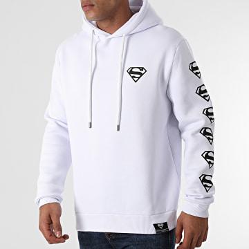 DC Comics - Sweat Capuche BW Chest And Sleeve Blanc