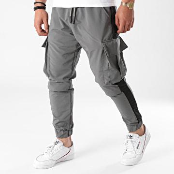 Ikao - Pantalon Jogging A Bandes L452 Gris Anthracite
