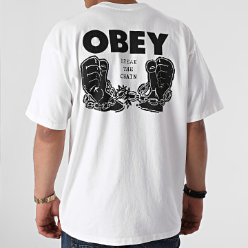 Obey - Tee Shirt Break The Chain Ecru