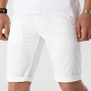 Paname Brothers - Short Chino Skinny Bary Blanc