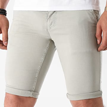 Paname Brothers - Short Chino Skinny Bary Gris Clair